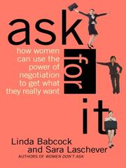 Cover of: Ask For It | Linda Babcock