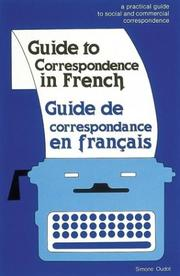 Cover of: Guide to correspondence in French | Simone Oudot