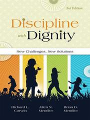 Cover of: Discipline with dignity