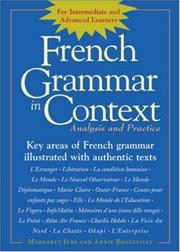 Cover of: French Grammar in Context | Annie Rouxeville