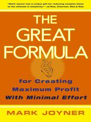 Cover of: The Great Formula | Mark Joyner