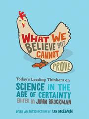 Cover of: What We Believe but Cannot Prove | John Brockman
