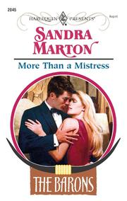 Cover of: More Than a Mistress | Marton