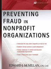 Cover of: Preventing Fraud in Nonprofit Organizations | Edward J. McMillan