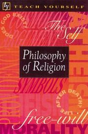 Cover of: Teach Yourself Philosophy of Religion (Teach Yourself) | Mel Thompson