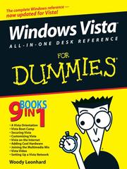Cover of: Windows Vista All-in-One Desk Reference For Dummies | Woody Leonhard