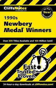 Cover of: CliffsNotes The 1990s Newbery Medal Winners | Suzanne Pavlos