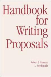 Cover of: Handbook for writing proposals