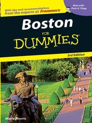 Cover of: Boston For Dummies | Marie Morris