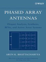 Cover of: Phased array antennas by Arun Bhattacharyya