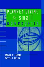 Cover of: Planned Giving for Small Nonprofits | Ronald R. Jordan