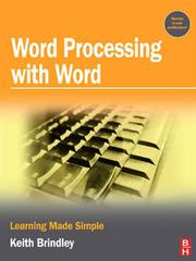 Cover of: Word processing with Word by Keith Brindley
