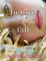 Cover of: Before I Fall by Lauren Oliver