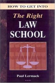 Cover of: How to get into the right law school