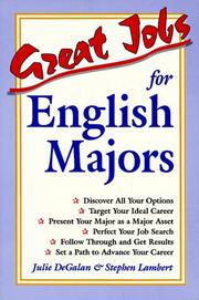 Cover of: Great jobs for English majors
