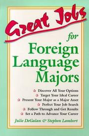 Cover of: Great jobs for foreign language majors | Julie DeGalan