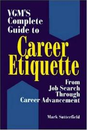 Cover of: VGM's complete guide to career etiquette