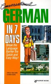 Cover of: Conversational German in 7 days | Shirley Baldwin