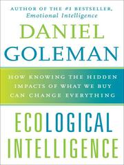 Cover of: Ecological Intelligence | Daniel Goleman