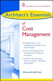 Cover of: Architect