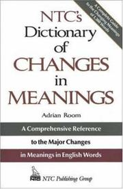 Cover of: Ntc's Dictionary of Changes in Meaning (NTC Publishing Group Titles)
