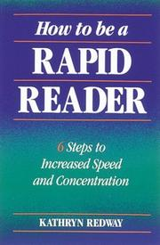 Cover of: How to be a rapid reader | Kathryn Redway