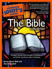 Cover of: The complete idiot's guide to the Bible by James S. Bell