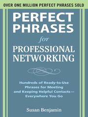 Cover of: Perfect Phrases for Professional Networking | Benjamin, Susan