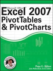 Cover of: Excel 2007 PivotTables and PivotCharts