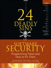 Cover of: 24 deadly sins of software security | Michael Howard