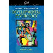 Cover of: Current directions in developmental psychology