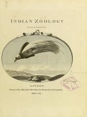 Cover of: Indian zoology