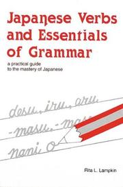 Cover of: Japanese verbs and essentials of grammar