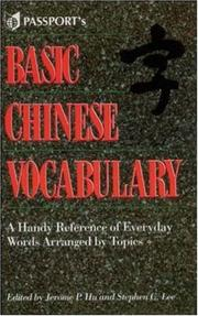 Cover of: Basic Chinese Vocabulary | Jerome Hu