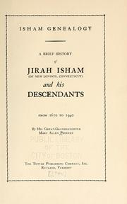 Cover of: Isham genealogy. | Mary Allen Phinney