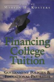 Cover of: Financing College Tuition | Marvin H. Kosters