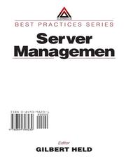 Cover of: Server Management |