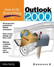 Cover of: How to Do Everything with Outlook 2000 |