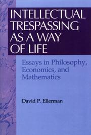 Cover of: Intellectual trespassing as a way of life
