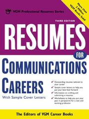Cover of: Resumes for Communications Careers |