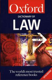 Cover of: A Dictionary of Law |