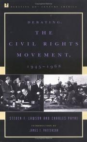 Cover of: Debating the civil rights movement, 1945-1968