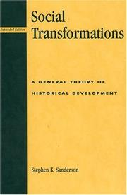 Social transformations by Stephen K. Sanderson