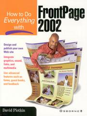 Cover of: How to Do Everything with FrontPage 2002 |