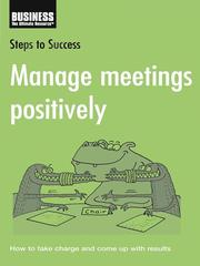 Cover of: Manage Meetings Positively |
