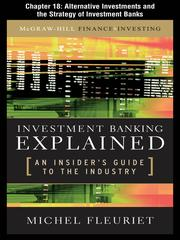 Cover of: Alternative Investments and the Strategy of Investment Banks |