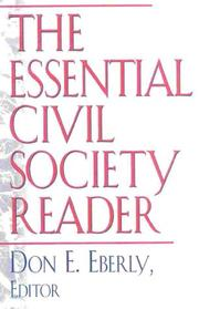 Cover of: The Essential Civil Society Reader