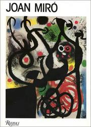 Cover of: Joan Miró