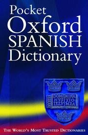 Cover of: Pocket Oxford English-Spanish dictionary |
