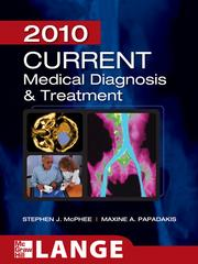 Cover of: Current Medical Diagnosis and Treatment 2010 |